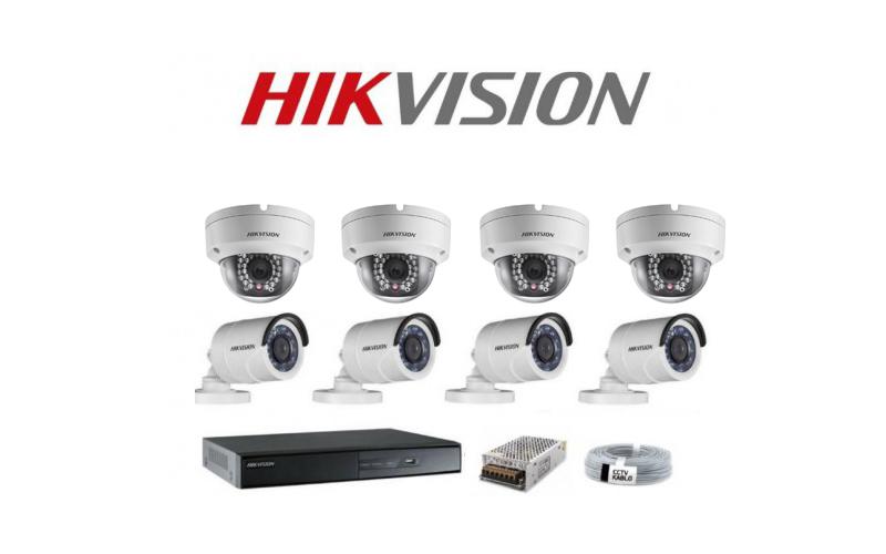 8 Kameralı 1MP Güvenlik Kamera Seti